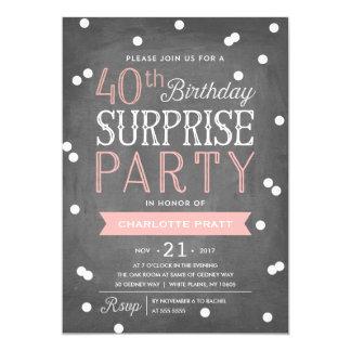 40th Födelsedag för inbjudan | för