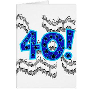 40th födelsedag för musikal hälsningskort