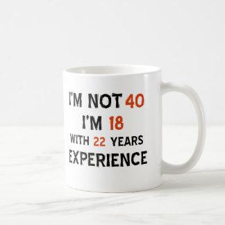 40th födelsedagdesigner vit mugg