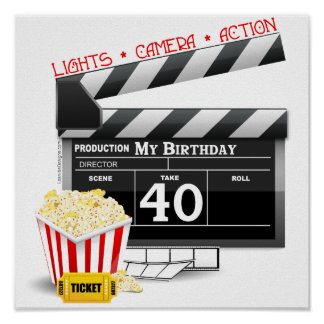 40th Födelsedagfilmfödelsedagsfest Poster