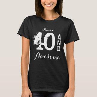 40th Födelsedaggåva för henne 40 och känsla A02 T-shirts