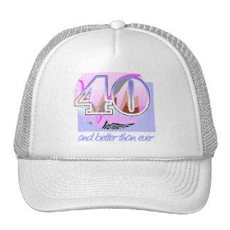 40th Födelsedaggåva Mesh Kepsar