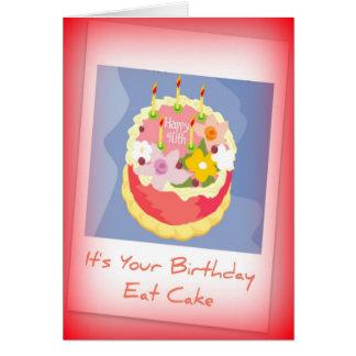 40th födelsedagkort för lycklig för person född hälsningskort