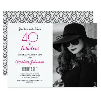 40th födelsedagsfest inbjudan - 40 & sagolikt