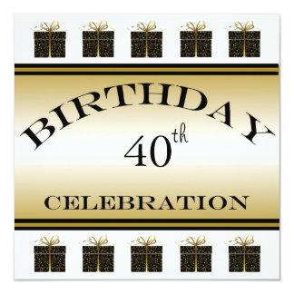 40th födelsedagsfest inbjudan för