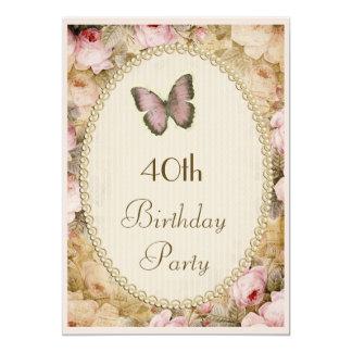 40th Födelsedagvintagero fjäril, musik noter Tillkännagivanden
