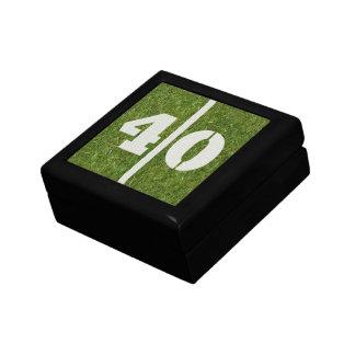 40th Gåvan för födelsedagfotbollsmycken boxas Presentförpackningar
