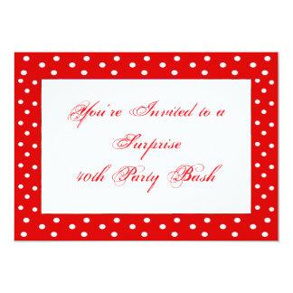 40th Inbjudan för födelsedagöverrrakningparty