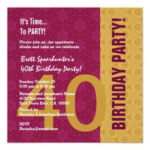rolig inbjudan till 40 års fest 40 år Rolig Inbjudningar | Zazzle.se rolig inbjudan till 40 års fest