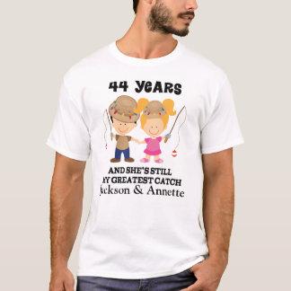 44th Beställnings- gåva för årsdag för honom T-shirt