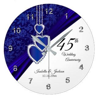 45th/minnessak för 65esafirbröllopsdag stor klocka