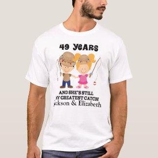 49th Beställnings- gåva för årsdag för honom T-shirt