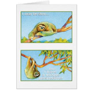 4:13 för Philippians för Slothhälsningkort Hälsningskort