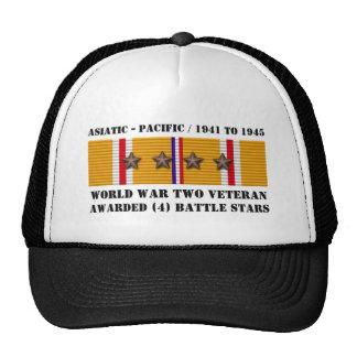 4 asiatisk Stillahavs- veteran för STRIDSTJÄRNOR Baseball Hat