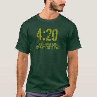 """""""4: För ställning"""" t för 20 kredit skjorta Tshirts"""