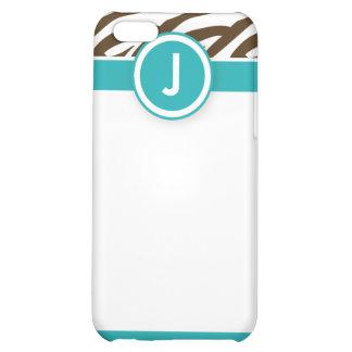 4 funkysebraAqua/choklad iPhone 5C Fodral