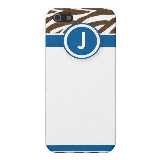 4 funkysebrablått/choklad iPhone 5 skydd