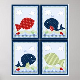 4 i 1 Jackson val/fisk 8x10 flytta sig mycket Poster