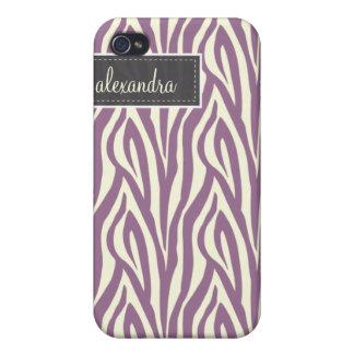 4 sebra Pern (lavendel) iPhone 4 Fodraler