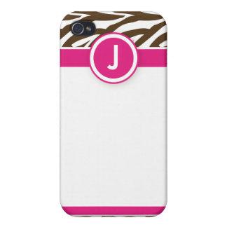 4 skraj sebrarosor/choklad iPhone 4 skydd