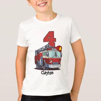 4e födelsedagen avfyrar lastbilen t-shirt