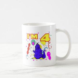 4e födelsedagenDinosaurfödelsedag Kaffe Muggar