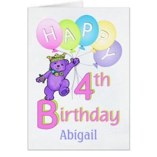 4e födelsedagenPrincess Uthärda, Hälsningskort