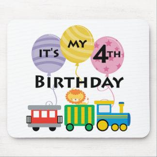 4e födelsedagentågfödelsedag mus mattor