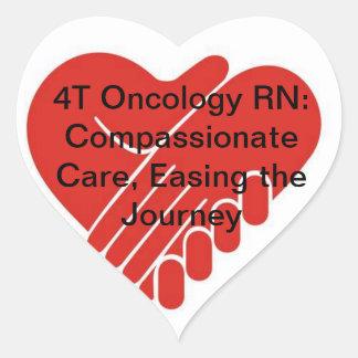 4T Oncology RN Hjärtformat Klistermärke