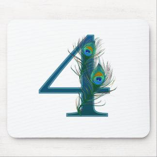 4th årsdag/4/4th/numrerar 4 musmatta