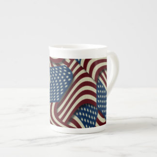 4TH Av amerikanska flaggan för vit och för blått Tekopp
