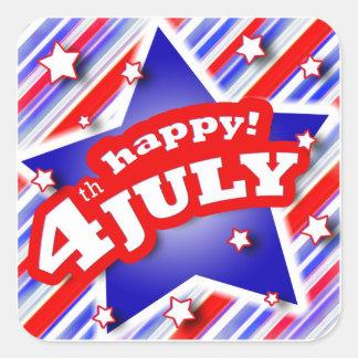 4th av den Juli firandeklistermärken Fyrkantigt Klistermärke