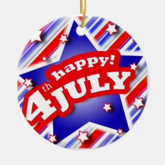 4th av den Juli firandeprydnaden Julgransprydnad Keramik