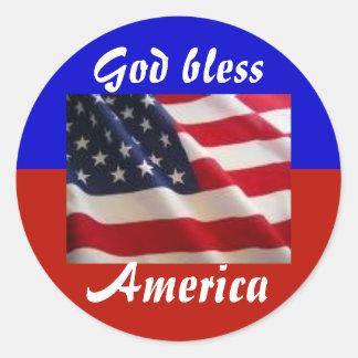 4th av den Juli patrioten Runt Klistermärke