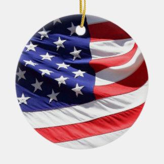 4th av den Juli prydnaden Julgransprydnad Keramik