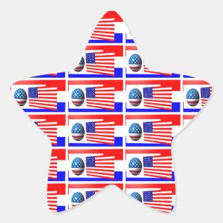 4TH AV den JULI stjärnaklistermärken Stjärnformat Klistermärke