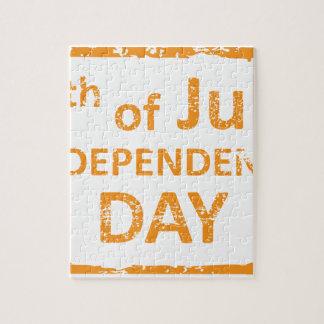 4th av det Juli independence dayfrimärket Pussel