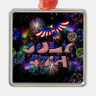 4th av det Juli partyet Julgransprydnad Metall