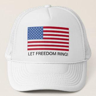 4th av hatten för Juli amerikanska flagganfrihet Truckerkeps