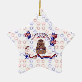 4th av Juli firande Julgransprydnad Keramik