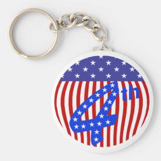 4th Av Juli Keychain Rund Nyckelring
