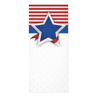 4th Av Juli USA banerbakgrund Rackcard Anpassade Ställkort