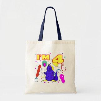 4th Birthday Dinosaur Birthday Tote Bag
