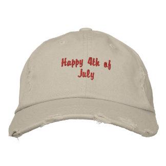 4th Juli - ha på sig det Proudly! Broderad Keps