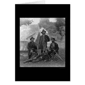 4th Pennsylvania kavalleri kommenderar 1862 Hälsningskort