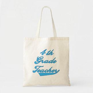 4th Tshirts och gåvor för klasslärareblått Tygkasse