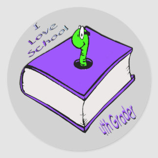 4th väghyvel för bokmal - jag älskar skolar runt klistermärke