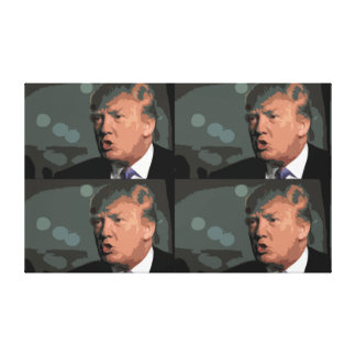 4X Iconic Donald Trump avbildar Canvastryck