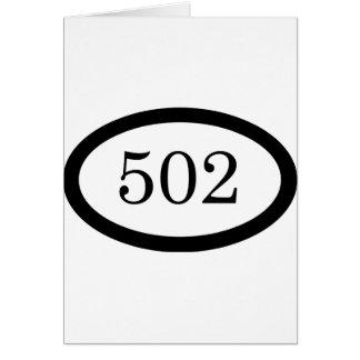 502. Luftburet Hälsningskort