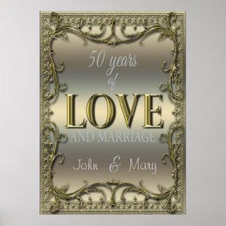 50 år av kärlek poster